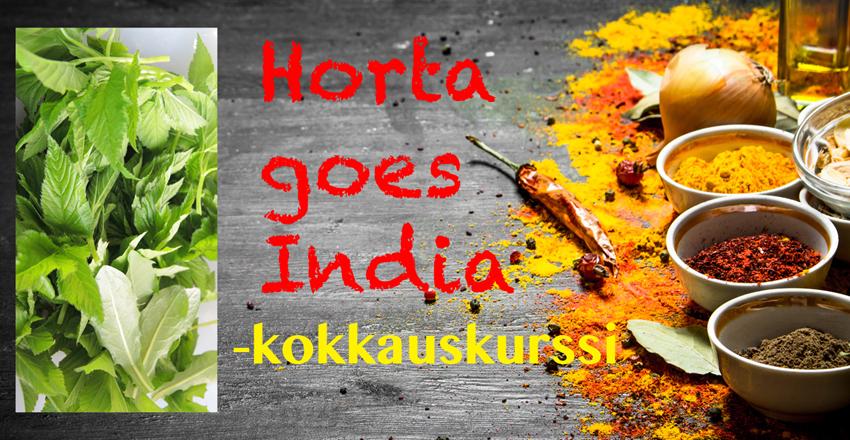 Tule Horta goes India -kokkauskurssille